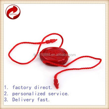 China wholesale embossed plastic seal tag with string