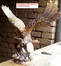 High Quality Cast Bronze Cast Brass Eagle Animal Statue Sculpture