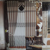 Factory price popular elegant thick fabric shower curtain