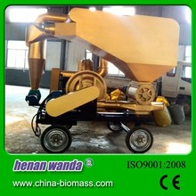 High efficiency vacuum sawdust unloader for loading and unloading grain