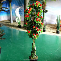 decorative artificial potted plant apple tree