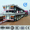 Factory direct tri axle 40ft flatbed container semi-trailer