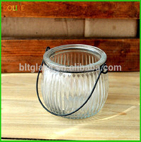 Private label unique shaped glass jars with hanged lids wholesale