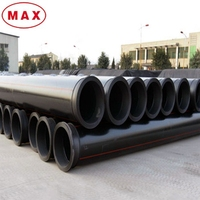 Flexible plastic Dn20-Dn1600mm HDPE Red Pipe
