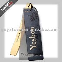 custom fashion design brand clothing printed paper label tag