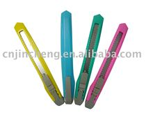 very cheap palstic utlity knife with 4 color.