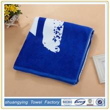 colorful velvet pigment printed sport towel