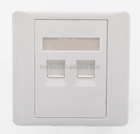 network cable wall face plate Network RJ45&RJ11 Face Plate 86type