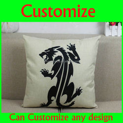 Plain white european design blank canvas printed Afrocentric pillow and polyester pillow cases