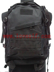 3D nylon black military tactical outdoor backpack