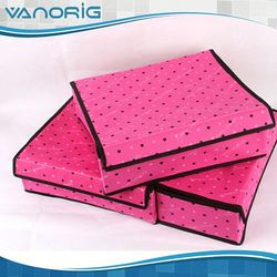 2015 Multifunction Non Woven Foldable plastic storage case with handle