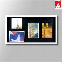 Classical automatic sitck picture a4 size photo fame with pen holder shadow box frames for sale