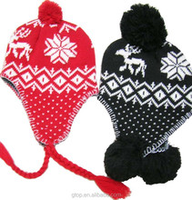 fashion winter hat knitted earflap hat and cap
