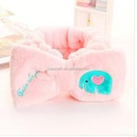 Coral velvet beauty spa bath headband 2015 fashion coral fleece hair headband
