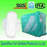 Cotton Material and Winged Shape extra long sanitary pad,OEM
