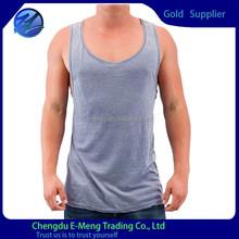 Cut color new design fashion mens tank tops on sale