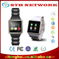 MT-08 Android 4.2.2 MTK6572 dual core processor ultra slim Bluetooth GPS Smart Watch for Android Smart Phone