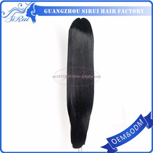 Quality long synthetic hair ponytail holders made of hair and rubber band, ponytail ring, ponytail ring comb