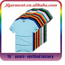 New design OEM custom print cotton 95 cotton /5 elastane 100% pima cotton blank t-shirt