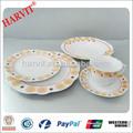 Romantic Flower Design Royal fina de alto blanco de porcelana vajilla