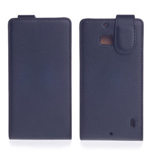 Black Commercial Style Vertical Magnetic Flip Leather Case for Nokia Lumia 930