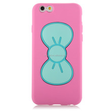 young cute stylish butterfly standing rubber phone case for Iphone 6 -
