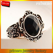 PRIMERO Punk Rock Ring Jewelry Magic Mirror Restoring Ancient Ways Black gemstone rings Female Personality Index Finger Rings