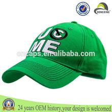 De alta calidad de golf cap, logotipo personalizado bordado gorra de béisbol, el color verde de deportes