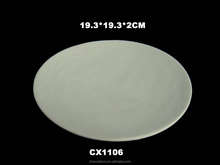 Ceramic Bisque plate--unpaint white ceramic bisque-porcelain plate