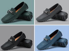 Omeal factory hot sell high quality cow hide leather men loafers shoes cheap