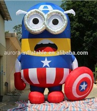Lovely inflatable minion character,yellow cartoon characters with factory price