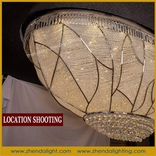 Excellent quality hotel project crystal ceiling lamp for villa