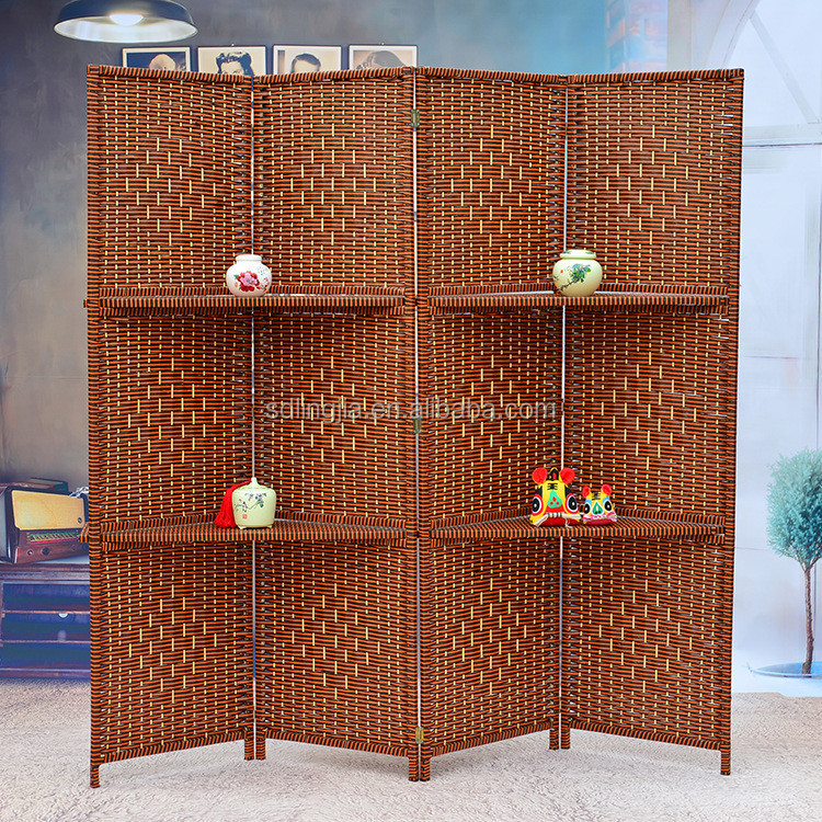 Wholesale decorative wooden handmade folding screens room for Cheap decorative screens