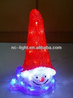 Outdoor lighted snowman Christmas Santa decorations with LED light /3D LED christmas acrylic snowman motif light