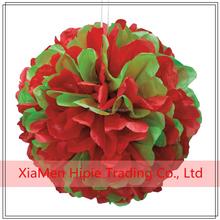New Arrival Tissue paper pom poms flower balls Xmax party decoration