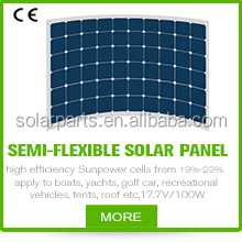 High efficiency marine flexible sunpower solar panel