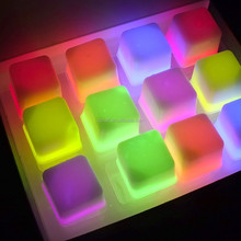 LED RGB Flashing Ice Bucket lighting ice cube SJIC-008