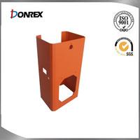 custom metal fabrication of U shaped metal bracket with welding