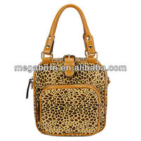 Leopard Vertical Dual Function Lady Fashion Tote Backpack Bag