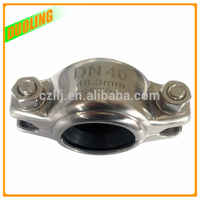 "flexible type 3"" DN80 89mm flexible rubber coupling with flange for grooved pipe in industrial"