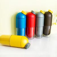 Cylinder Shape Sports Travel Mug Tea Cycling Drinking Bottle