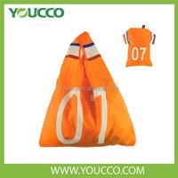Folding Clothing Shaped Bags for Shopping Soccer promotional shopper bag