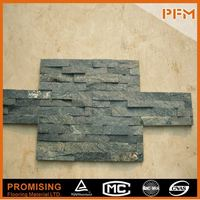 Grooved Rusty Slate Stacked Wall Cladding Stone