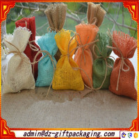 Low Price Dyed Burlap Pouch