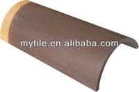 Coffee Glazed Terracotta Pan Roof Tiles For Sale