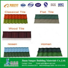 Simple Installation Roman Stone Coated Metal Roof Tile
