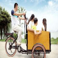 danish family cheap three wheel cargo passenger tricycle three wheel bike