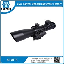 3-9x42EG Hunting Rifle Scope 3-9x 42mm Red Green Dot Illuminated Telescopic Sight Riflescope w/ Tactical Red Laser Scope Sight
