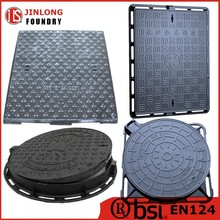 EN124 ductile iron inspect manhole cover from factory