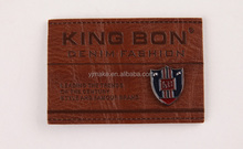 thick logo leather label tag for jeans embossed genuine leather patch
